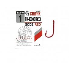 Крючок одинарный Fanatik SODE RED FK-10006R №1