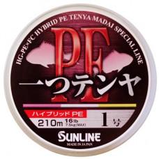 Шнур Sunline Hitotsu Tenya PE 210m #1/0.181мм 16LB/7.5кг