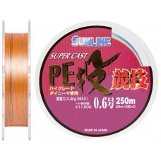 Шнур Sunline S-Cast PE Nagi Kyogi 250м #0.6/0.128мм 4.4кг