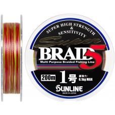 Шнур Sunline Super Braid 5 200m #1.0/0.165мм 6.1кг
