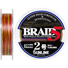 Шнур Sunline Super Braid 5 200m #2.0/0.225мм 11.6кг