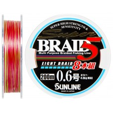 Шнур Sunline Super Braid 5 (8 Braid) 200m #0.6/0.128мм 4кг