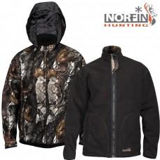 Куртка флисовая двухсторонняя Norfin HUNTING Thunder Staidness/Black (капюшон)
