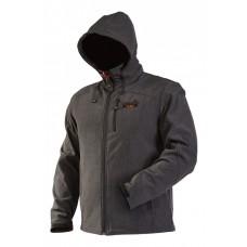 Куртка флисовая мембранная ветронепродуваемая с капюшоном Norfin VERTIGO (soft shell)