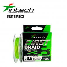 Шнур плетеный Intech First Braid X8 100m 0.6 (12lb/5.45kg)