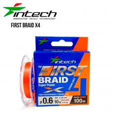 Шнур плетеный Intech First Braid X4 100m 0.8 (12lb/5.45kg)