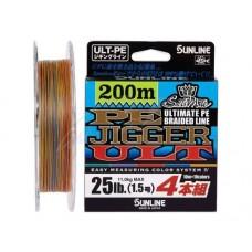 Шнур Sunline PE-Jigger ULT 200m (multicolor)