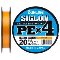 Шнур Sunline Siglon PE х4 300m (оранж.)